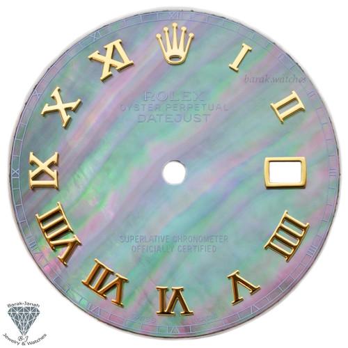 Roman MOP Dial For Rolex DateJust 36mm Caliber 3035 3135 - Gold