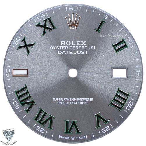 Gray Wimbledon Dial For Rolex DateJust 41mm 126300 126334 Caliber 3235 - Silver