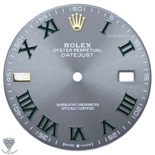 Gray Wimbledon Dial For Rolex DateJust 41mm 126303 126333 Caliber 3235 - Gold