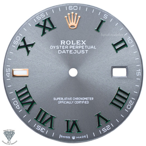 Gray Wimbledon Dial For Rolex DateJust 41mm 116300 Caliber 3136 - Rose Gold