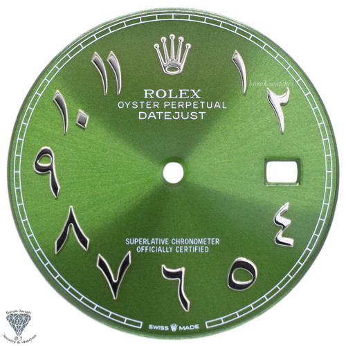 Light Green Dial For Rolex DateJust 41mm with Arabic Numerals - Caliber 3235
