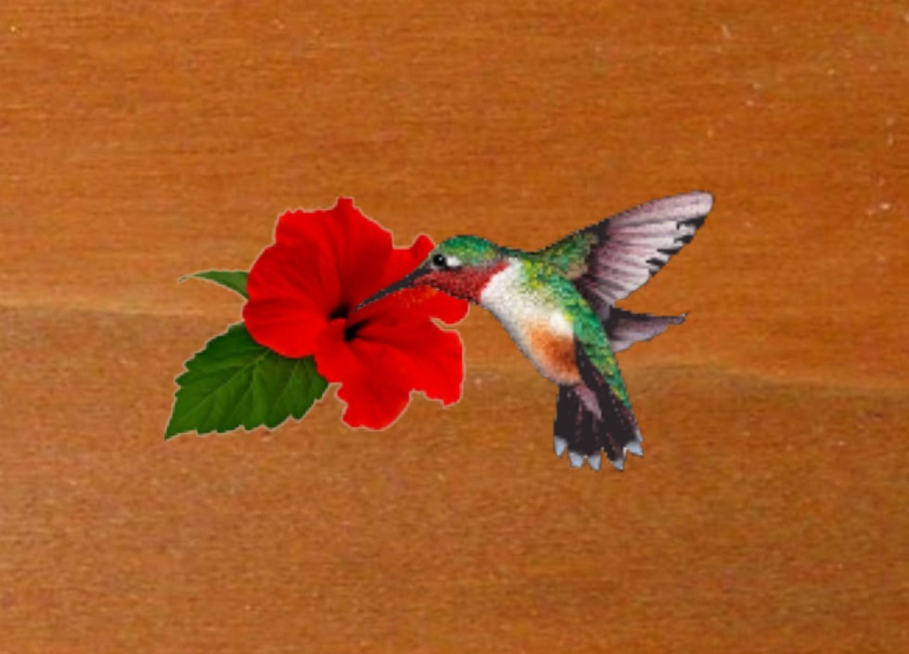 Hummingbird Welcome Sign Cottage Name Sign