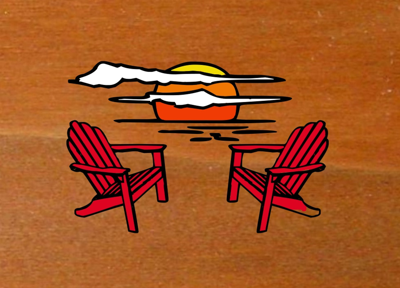Wood Sign Camper Sign Large Oval Personalized Gift Name Sign Adirondack Chair Sunset Graphic Carved Sign Wooden Camp Sign With Sign Holder