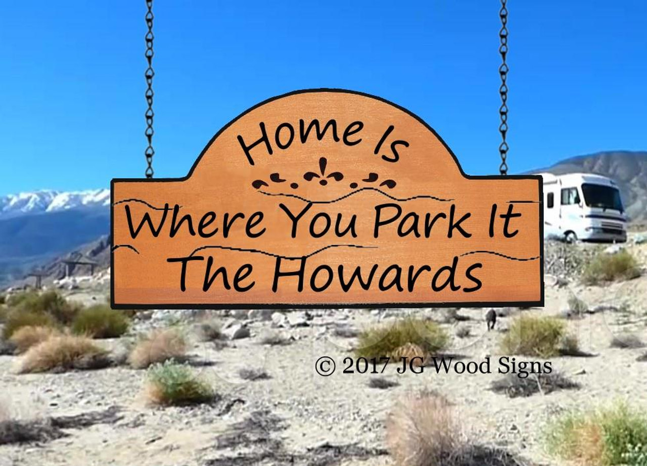 Campground Signs Wooden Personalized Gift Rv Sign With Rv Sign Holder Option Jg Wood Signs Etsy Name Sign Howard
