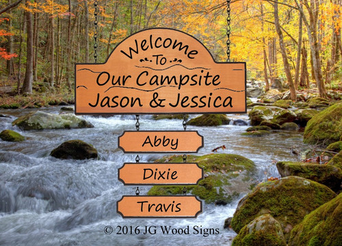 Wooden Camping Signs