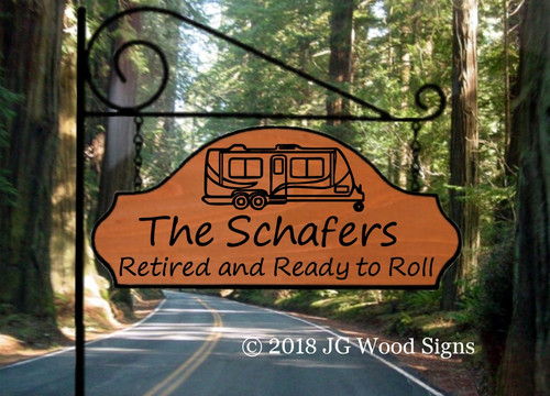 Personalized Gift Camping Sign