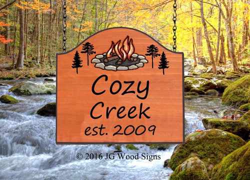 RV Camping Name Sign