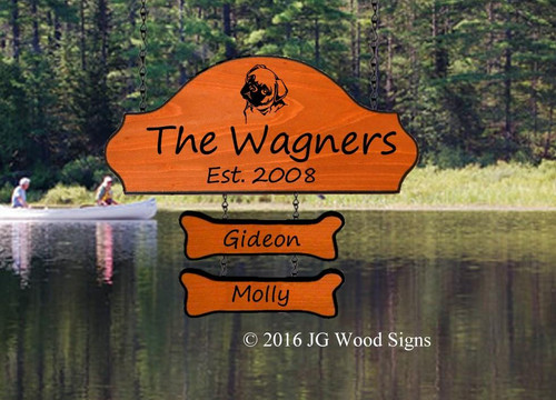 Pet Personalized Camping Signs