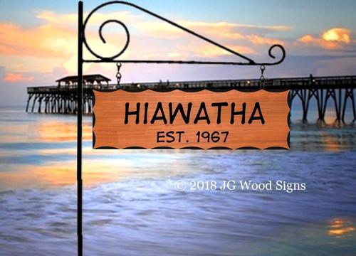 Custom Wooden Sign, carved cottage sign