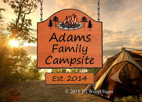 Camping Signs Wooden