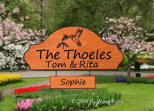 Personalized Outdoor Wooden Signs. custom cottage sign