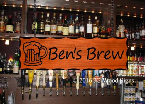 Custom Wood Signs, custom pub sign