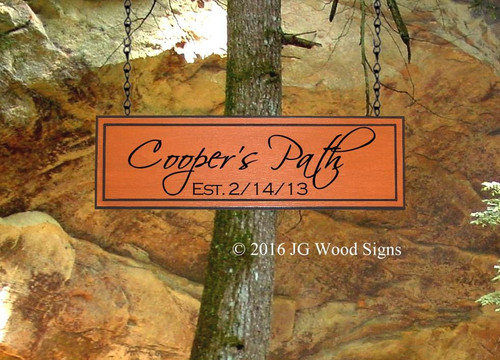 Outdoor Wood Name Signs