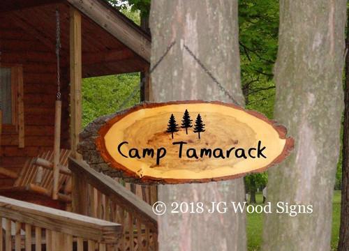 Wood Slab Signs