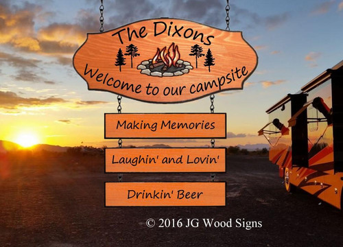 Custom Campsite Signs