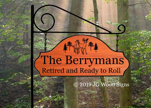 Customized Camping Signs, Wooden Camper Sign