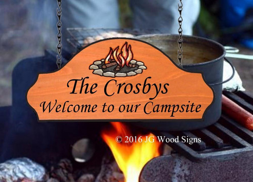 Personalized Carved RV Sign