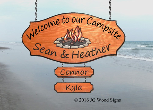 Campsite Name sign