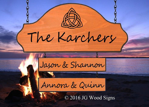 Personalized Camping Signs with stand option
