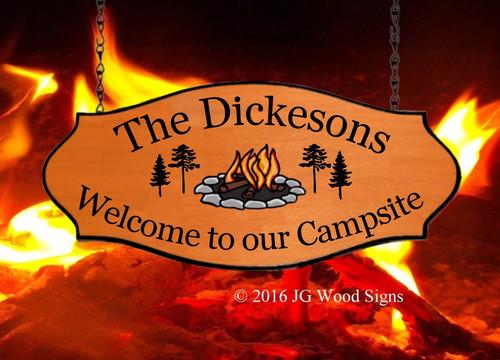 Camper Signs Wood
