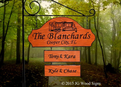 Camper Wood Signs