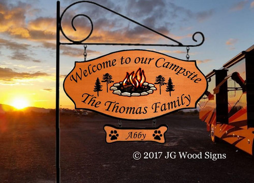 Personalized Camping Signs Wood