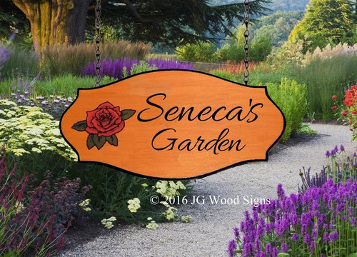 Carved Wood Garden Signs