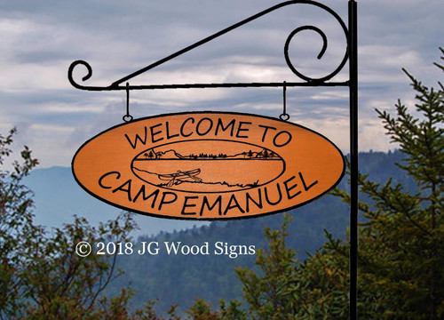 Canoe Lake Signs  Wood Name Sign Personalized Gift Cabin Sign Lake Sign with Sign Holder Option - Beach Lake Cabin Cottage - JGWoodSigns - Etsy Outdoor Name Sign CampEmanuel