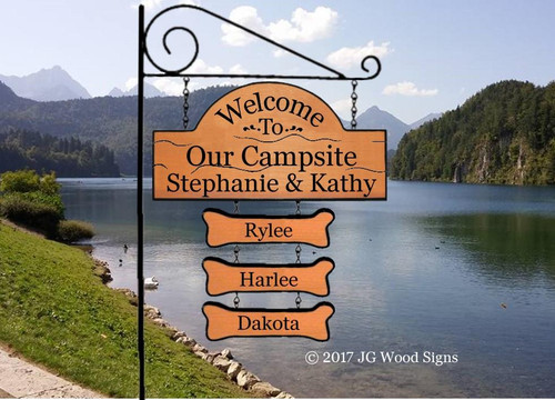 Camping Personalized Signs
