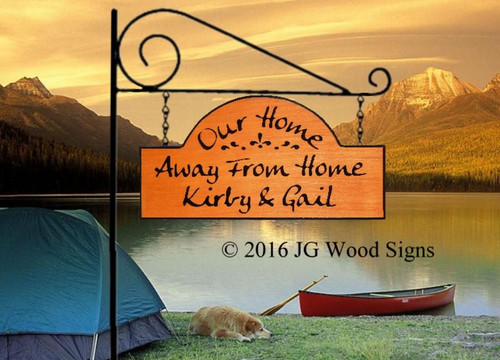 Customized Camping Signs -  Cabin Sign Cottage Sign  - Lake Sign with Sign Holder Option JGWoodSigns Etsy Outdoor Sign KirbyGail