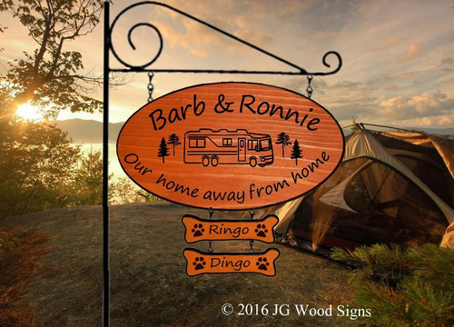 RV Wooden Signs