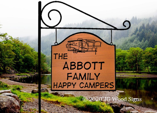 Custom Campsite Signs, Personalized Wooden Camping Signs