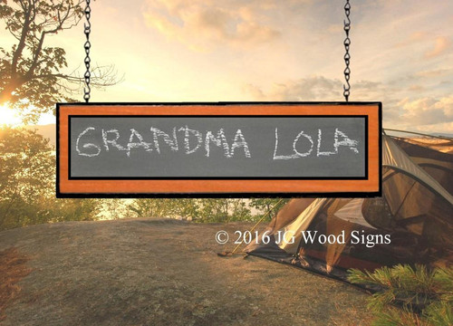 Custom Campsite Signs -Chalkboard - Custom Camping Sign Add On JGWoodSigns  RV Wood Sign Lola