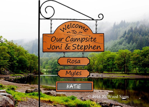 Camping Sign Personalized