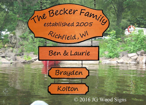 Personal Camper Signs Carved Family Name with 3 Add On signs - Personalized Gift Cottage Sign JGWoodSigns Etsy Outdoor Sign Camping Sign Becker