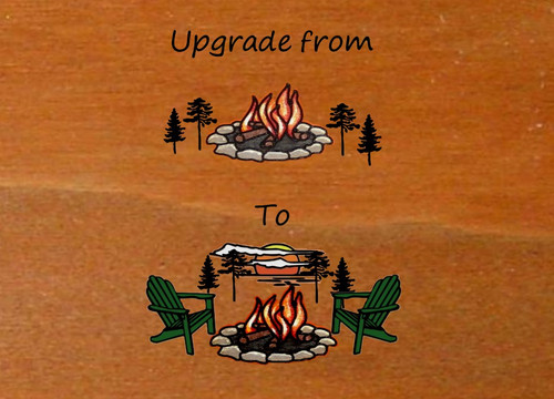 Color Upgrade Wood Carved Camping Signs