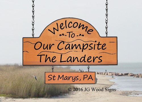 Personalized Wood Camp Signs