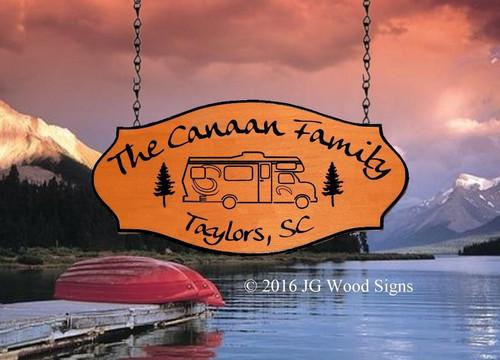 Camping Wood Signs