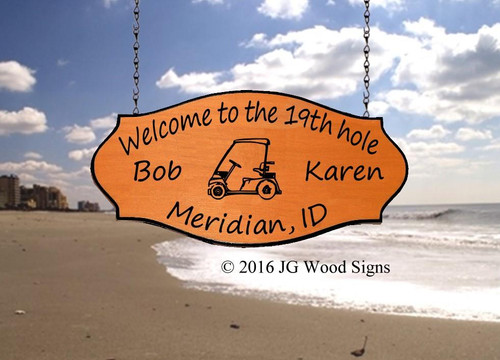 Sports Golf Signs Wood Sign Camping Sign - Personalized Gift - Sign Holder Option JGWoodSigns - Etsy Carved Sign BobKaren