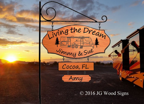 Personalized Gift Camping Signs Travel Trailer 2 Dr with 2 Add ons - Family Name Sign with Sign Holder Option Custom Sign Carved Wood JG Wood Signs Etsy Motorhome JimmySue