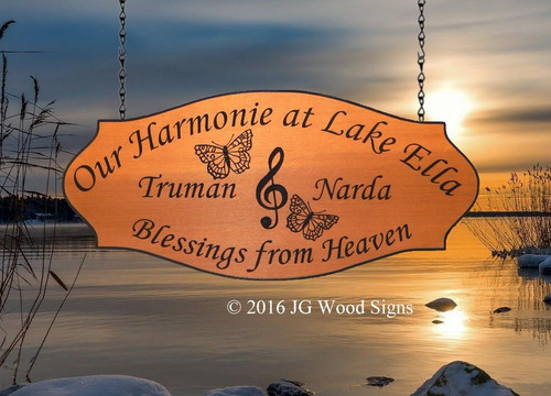 Outdoor Wood Sign, custom camp sign