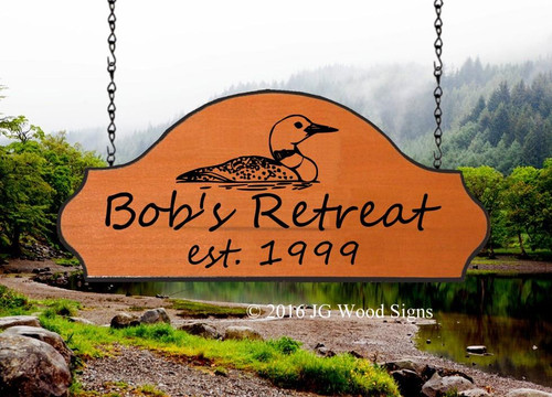 Carved Wood Signs for Campers  Loon Graphic Personalized Cottage Signs - Family Name Wood Sign with Sign Holder Option JG Wood Signs Etsy Wood Signs Camper Sign Lake Sign BobsRetreat