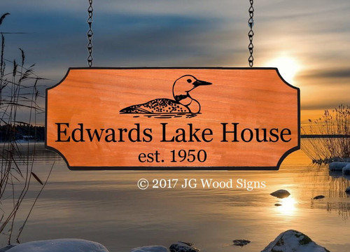 Custom Campsite Signs - Bird Graphic of your choice - Sign Holder optional - JGWoodSigns Etsy Wood Sign -  Camping Sign Cabin Sign Cottage Sign Edwards