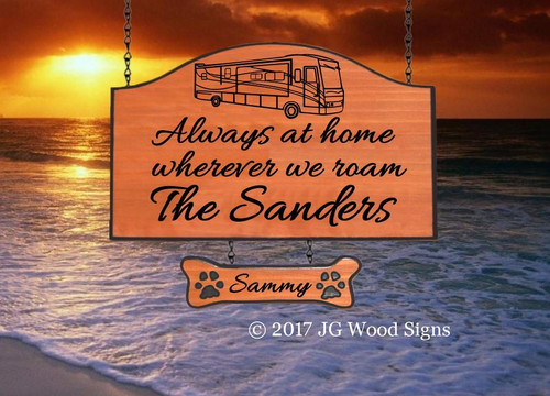 Camping Signs Personalized Carved Cedar Sign  Motorhome -  Carved Wood Camping Signs - Christmas for hard to buy present - with sign holder option JG Wood Signs Etsy Family Camping Sign Sanders