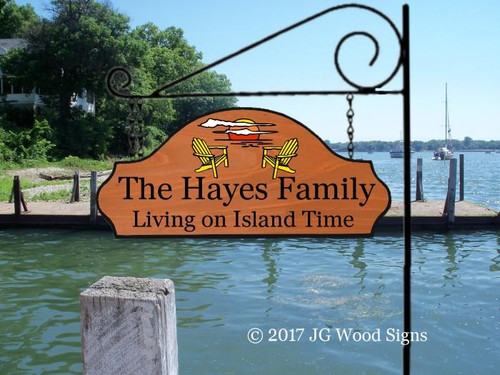 Personalized Camping Signs Wood Sign Family Name Sunset Chairs - Custom Carved Wood - RV Graphic with sign holder option Camp Chairs Sign JGWoodSigns Etsy Lake Sign Cottage Sign Hayes