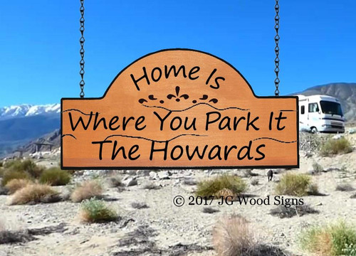 Campground Signs Wooden - Personalized Gift RV Sign  with RV sign holder option JG Wood Signs Etsy Name Sign Howard