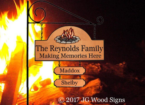 Camping Wood Signs - Memories Made Here w 2 add on signs - Carved Sign Camping Sign JGWoodSigns Etsy Cabin Sign Cottage Sign Reynolds