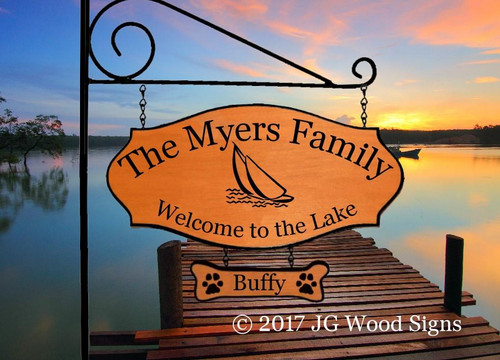 Personalized Lake sign