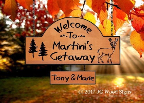 Camper Wood Signs Getaway Carved Wood Sign - Personalized Gift with one add on with sign holder option JG Wood Signs Etsy Carved  Sign Martini
