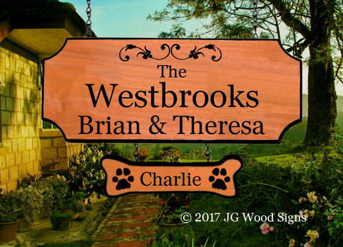 Personalized Gift wood camping sign